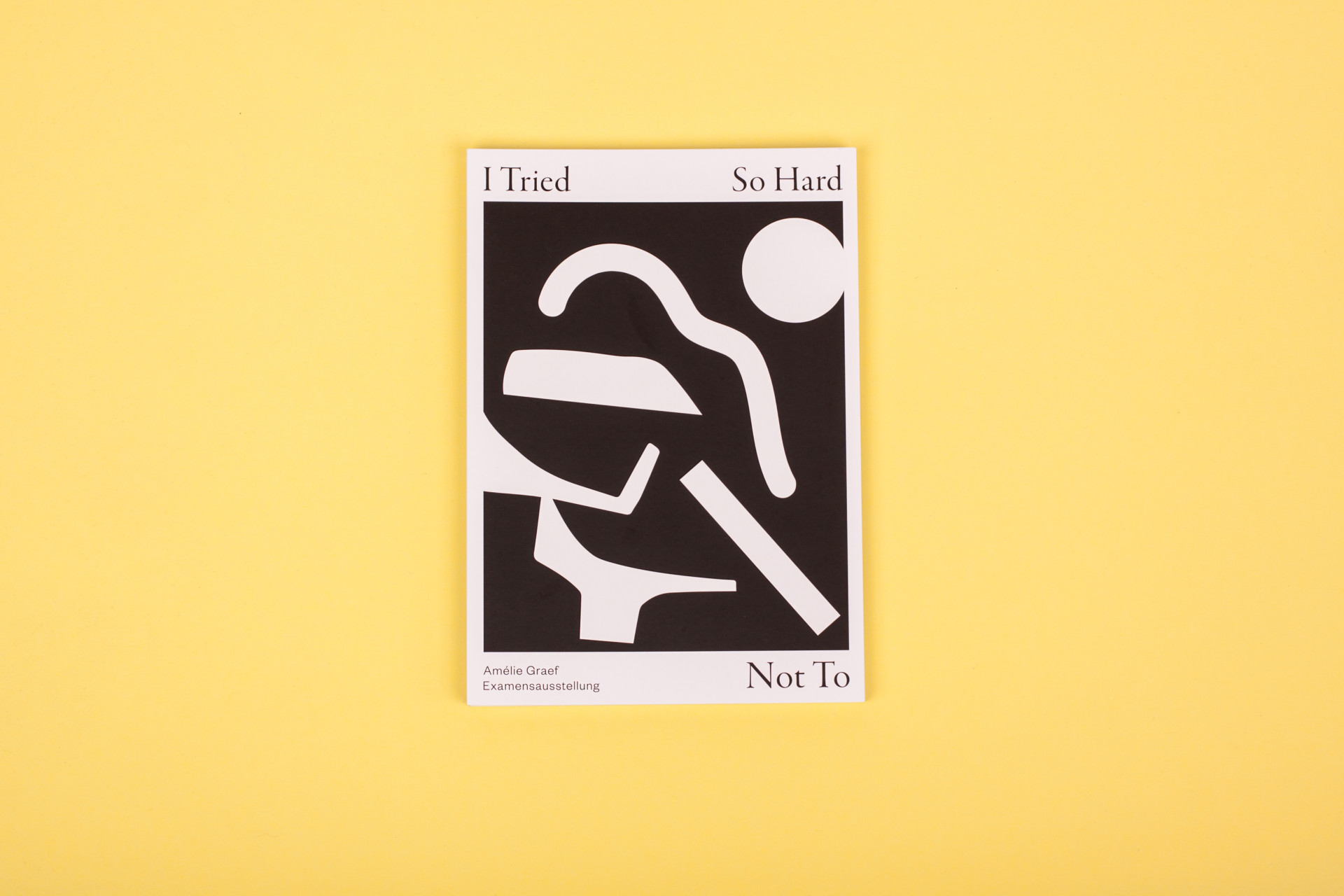 Amélie Graef – Graphicdesign & Art Direction I Tried So Hard Not To