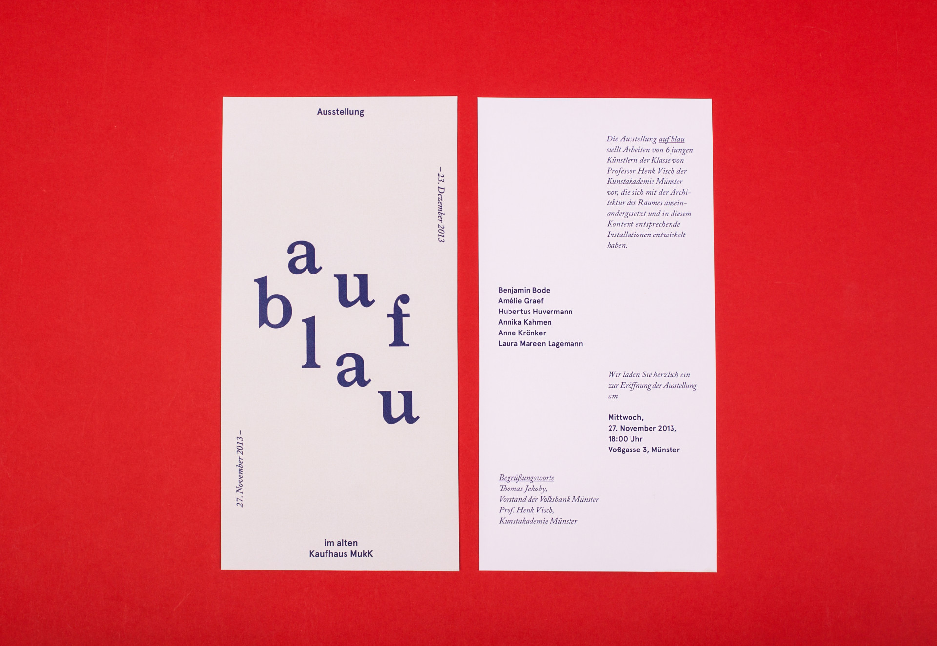 Amélie Graef – Graphicdesign & Art Direction auf blau