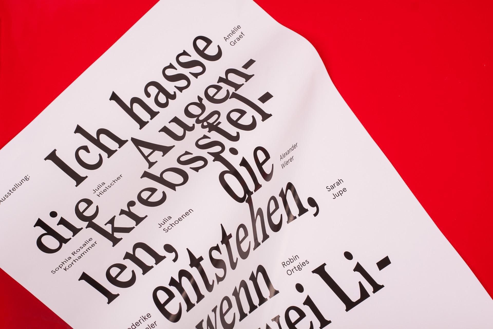 Amélie Graef – Graphicdesign & Art Direction Ich hasse die Augenkrebsstellen